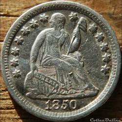 1850 O Half Dime