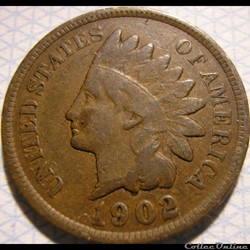 1902 One Cent (ex.2)