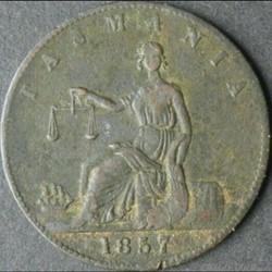 1857 Half Penny Token - Tasmania, Australia