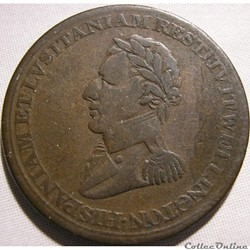Wellington - 1/2 Penny 1812 Peninsular token to Madrid
