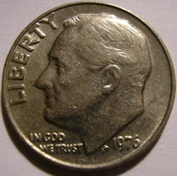 1976 Dime