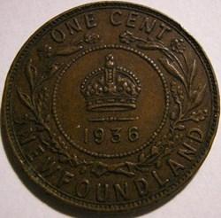 George V - One Cent 1936 Newfoundland