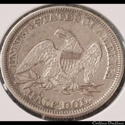 monnaie monde etat uni 1855 half dollar