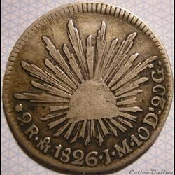México - 2 Reales 1826 Mo - Ist Republic