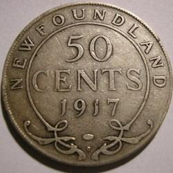 George V - 50 Cents 1917 Newfoundland
