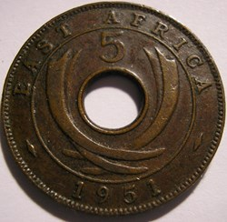 George VI - 5 Cents 1951 - East Africa