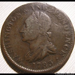 1783 Washington Independence Token - Draped Bust, No Button