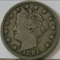 1884 5 Cents