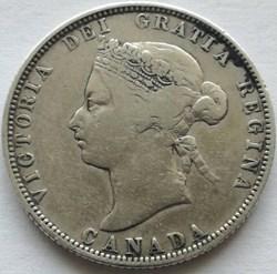 Victoria - 25 Cents 1874 H (ex.2)