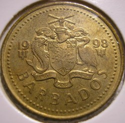 Barbados - 5 Cents 1998