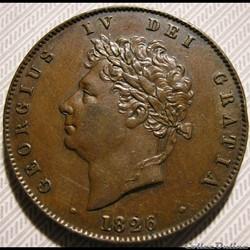 George IV - Half Penny 1826