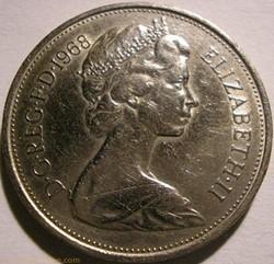 Elizabeth II - 10 New Pence 1968 - UK