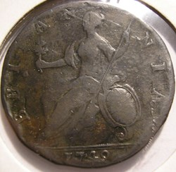 George II - Half Penny 1749 Great Britai...