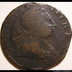 1773 Half Penny No Regal - George III of Great Britain (ex.3)