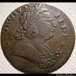 1773 Farthing - No Regal - George III of Great Britain