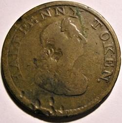 George III - HalfPenny Token 1814 - Irel...