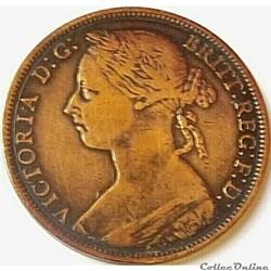 Victoria - One Penny 1887 - Kingdom of Great Britain