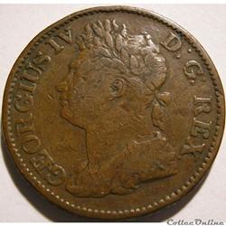 George IV - Half Penny 1823 Ireland (ex.2)