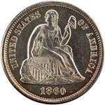 Dimes Seated Lib. (1837-1891) 10 Cents USA