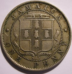 George V - One Penny 1926 - Jamaica