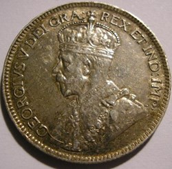 George V - 25 Cents 1919