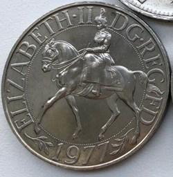Elizabeth II - 25 New Pence 1977 - Silve...