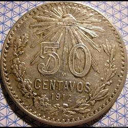 México - 1912 - Centavos 50 - Estados Un...