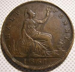 Victoria - Half Penny 1861 - Great Brita...