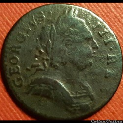 1774 Farthing - No Regal - George III of Great Britain