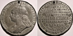 Victoria - Token 1899 Royal visit at Dur...