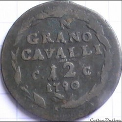 1790 Royaume de Naples, 12 Cavalli - Ferdinando IV de Bourbon-Siciles