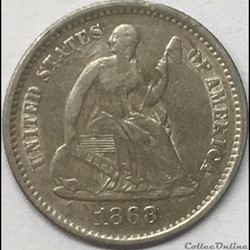 1868 s Half Dime