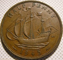 George VI - Half Penny 1945 - UK