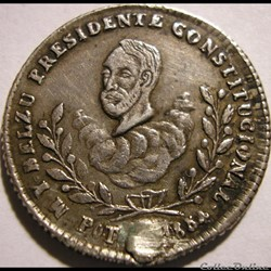 1854 Médaille - Proclamation de Manuel Isidoro Belzu, Pdt