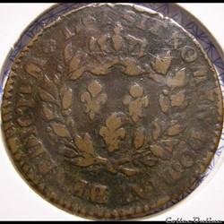 Louis XV - Sol de 12 Deniers 1767 A - Colonies d'Amérique