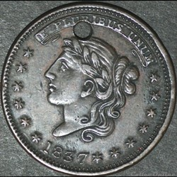 1837 Not One Cent Token - Millions for D...