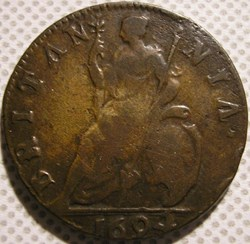 William III & Marie II - Farthing 1694 K...