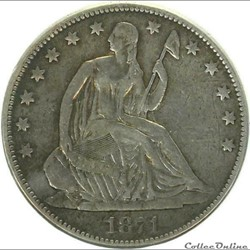 1871 Half Dollar