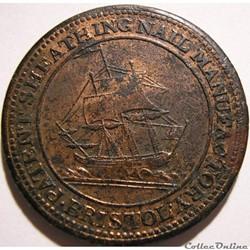 1811 HalfPenny Patent Sheathing Nail Manufactory - Bristol (ex.2)
