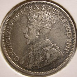 George V - 25 Cents 1913