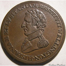 Wellington - 1/2 Penny 1812 Peninsular token to Salamanca