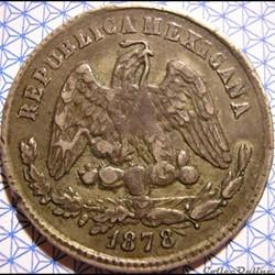 México - 25 Centavos 1878 Zs - 2nd Republic
