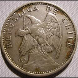 Chile - Un Peso 1922 S Santiago