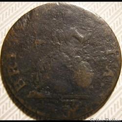 1775 Farthing - No Regal - George III of Great Britain (ex.3)