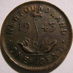 George VI - 1 Cent 1943C Newfoundland