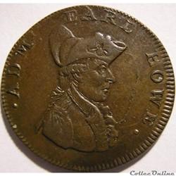 1794 Farthing - Admiral Earl Howe Token ...