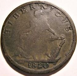 Hibernicus - 1820 HalfPenny Token - Irel...