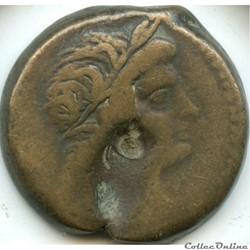 Cleopatra I & Ptolemy V (194-176)  Dichalkon Æ 26