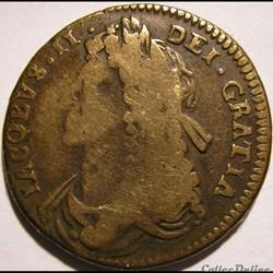 James II Stuart - Half Penny 1685 Kingdom of Ireland