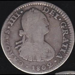 México - 1 Real 1802 Mexico - Carlos IV ...